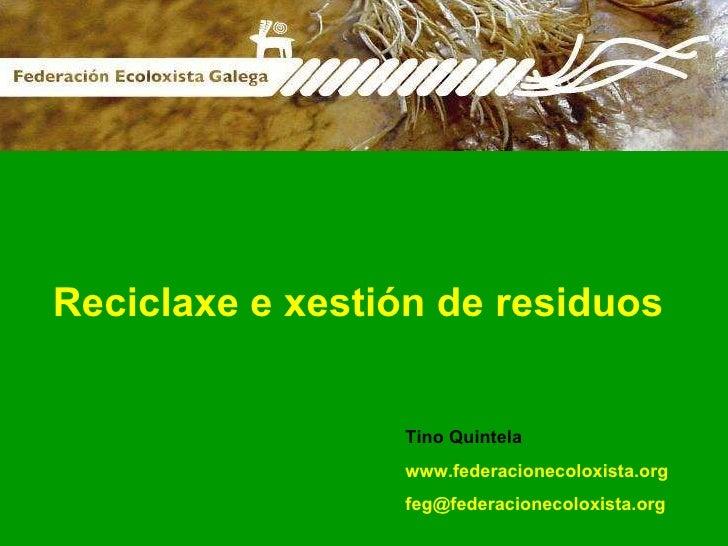 Reciclaxe E Xestion Residuos