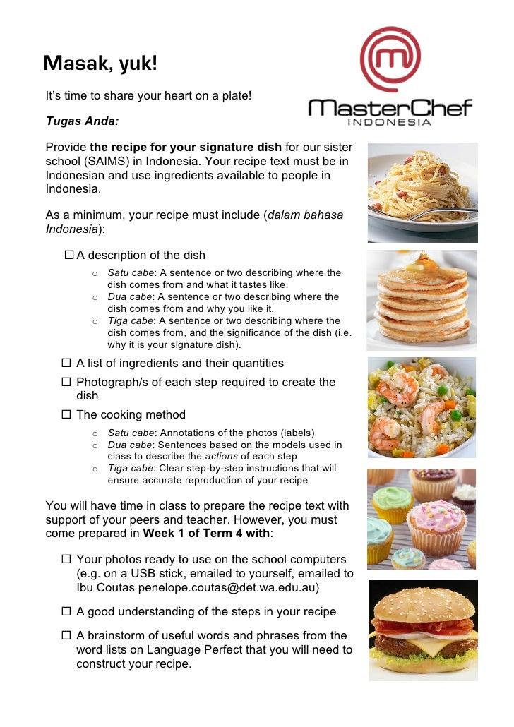 Recipe Assignment