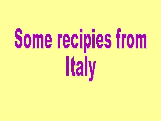 Recipe book from Italy