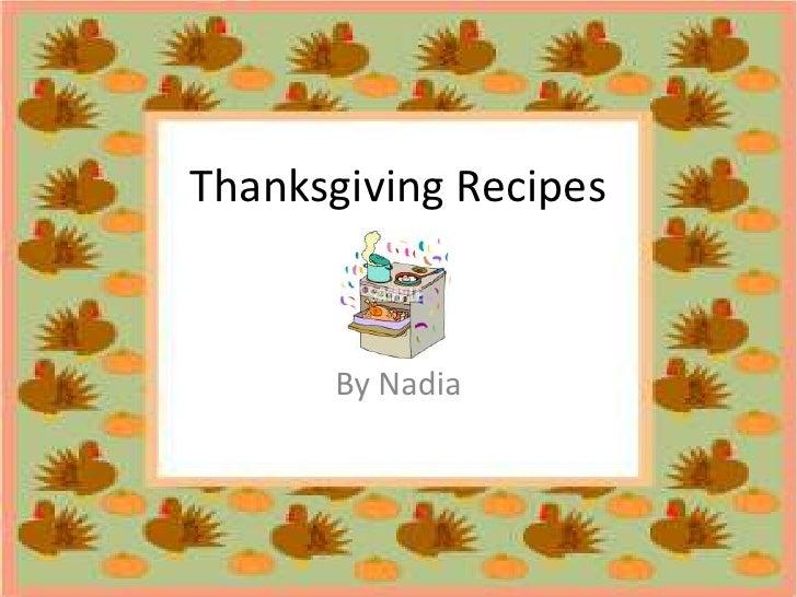 Recipes - Nadia