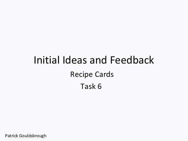 Recipe cards task 6 pro forma