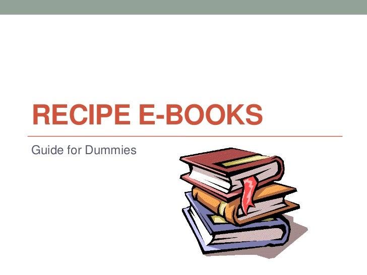 Recipe e books