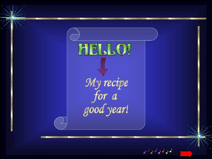 Recipe for a Good Year - Happy New Year
