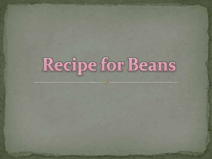 RecipeforBeans<br />