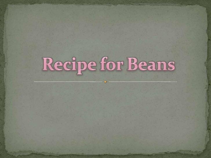 RecipeforBeans<br />