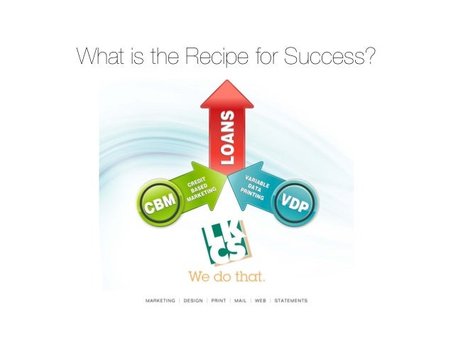 Recipe for Success with Variable Data Printing and Credit Based Marketing