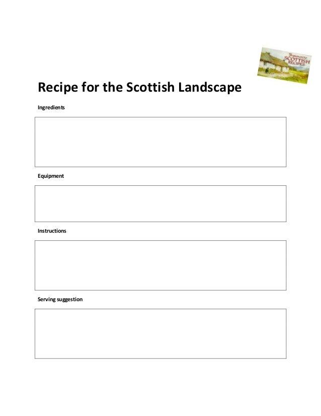 Recipe for the Scottish Landscape