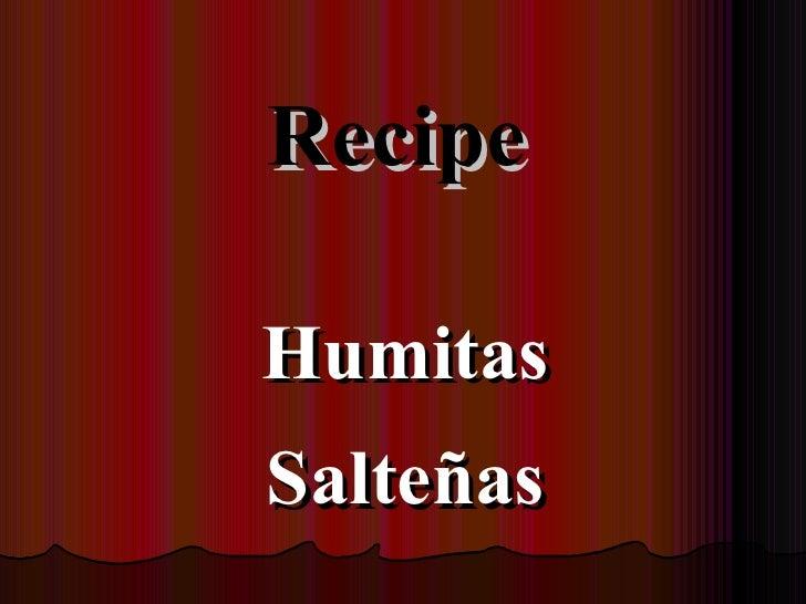 Recipe humitas salteñas