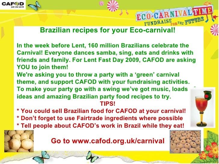 CAFOD Eco-carnival Recipes