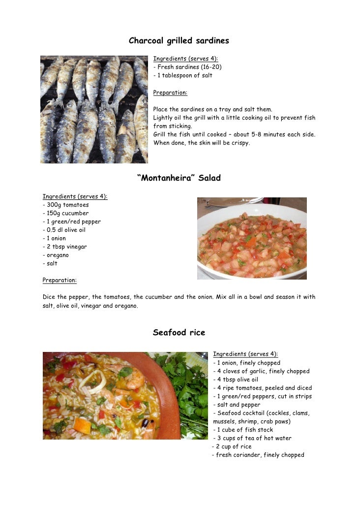 Recipes from the algarve
