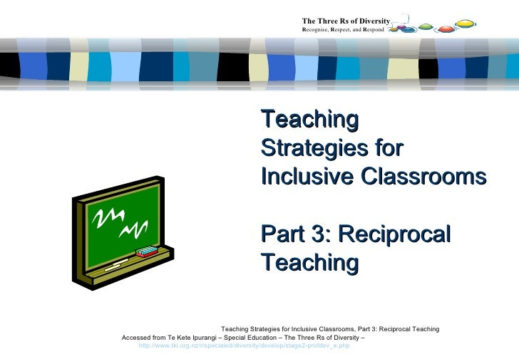 Teaching Strategies for Inclusive Classrooms  Part 3:   Reciprocal Teaching Teaching Strategies for Inclusive Classrooms, ...
