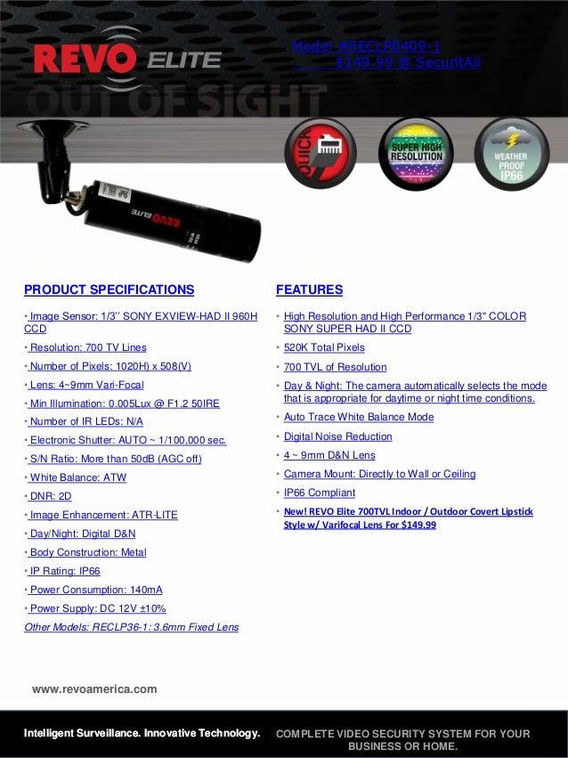 Reclp0409 1 Revo America Cameras For Sale @ SecuritAll.com