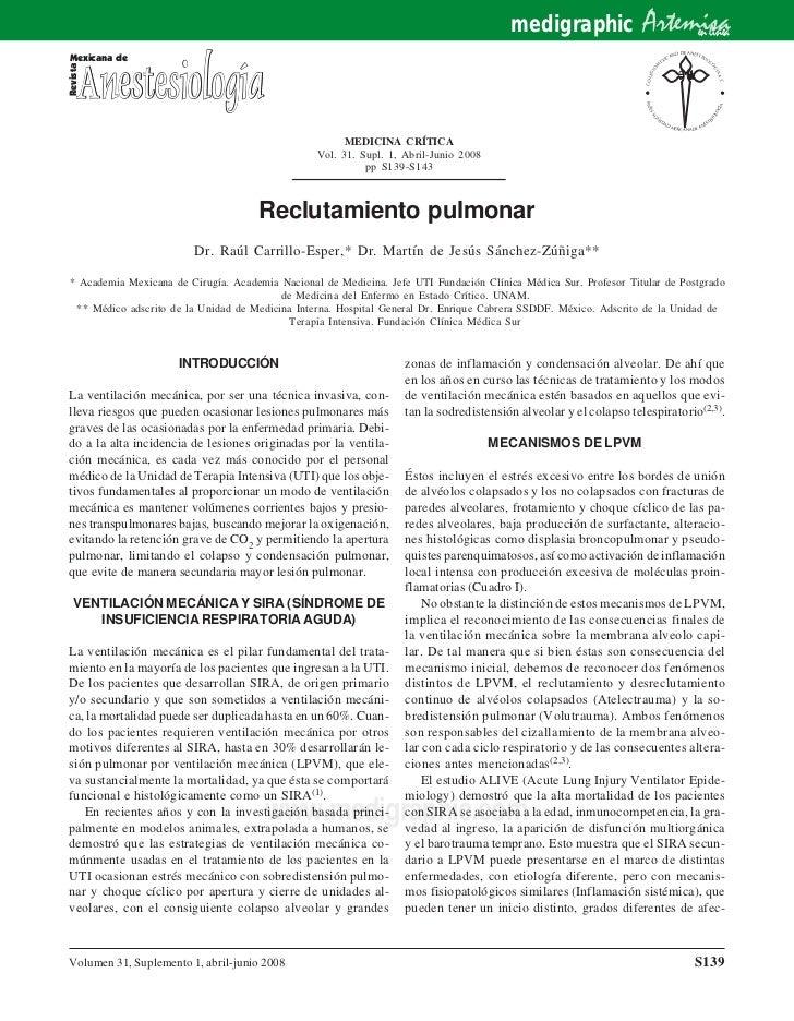 Reclutamiento pulmonar  pdf
