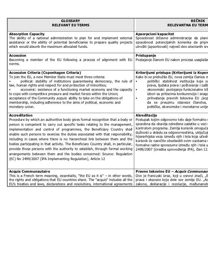 Recnik EU fondovi-terminologije