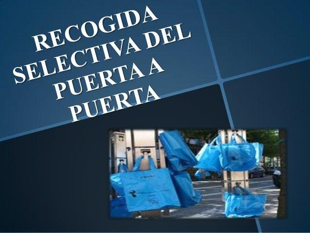 - Separar los residuos generados en los hogares (papel, plástico, orgánico y rechazo). Calendario de frecuencia para depos...