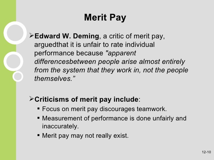 merit and performance essay Pay for performance paper details 1 calculate the 3% merit budget (merit pool is determined by computing 3% of the total salary of your team) 2.