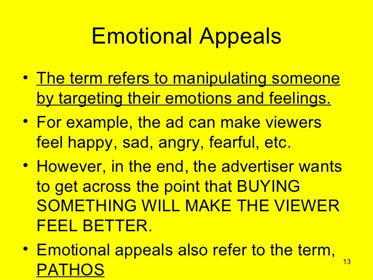 effect of negative emotional advertising appeals Sex appeal in advertisings negative effects on children essayssex appeal in advertising has become an incredibly controversial issue due to its negative effects on children's self-esteem, body image, manipulation of their young minds into purchasing company products, and lastly the sexual portr.