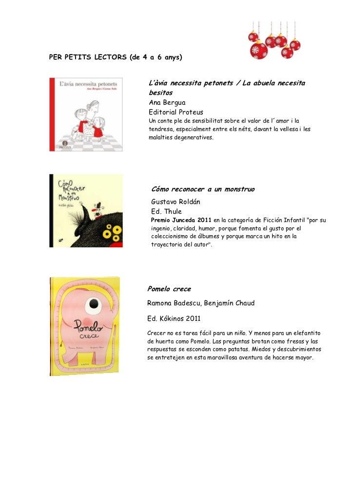 Recomanacions llibres Nadal 2011