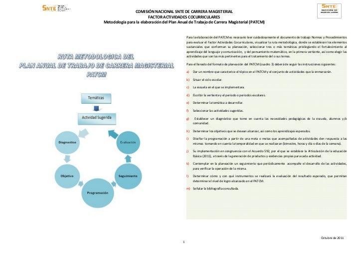 Recomendaciones para act. cocurriculares