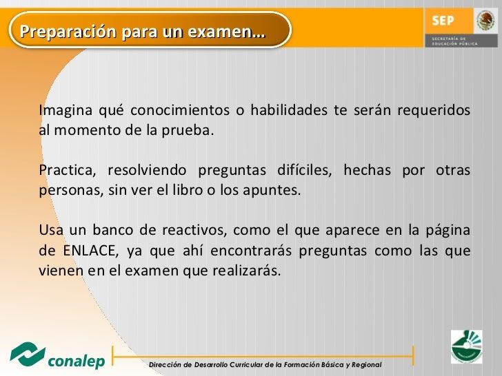 Recomendaciones para examenes de opcion multiple