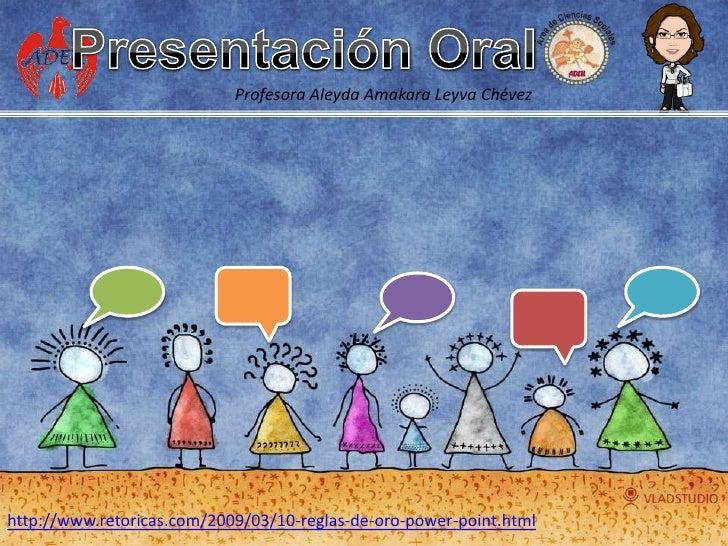 Recomendaciones Presentacion Oral
