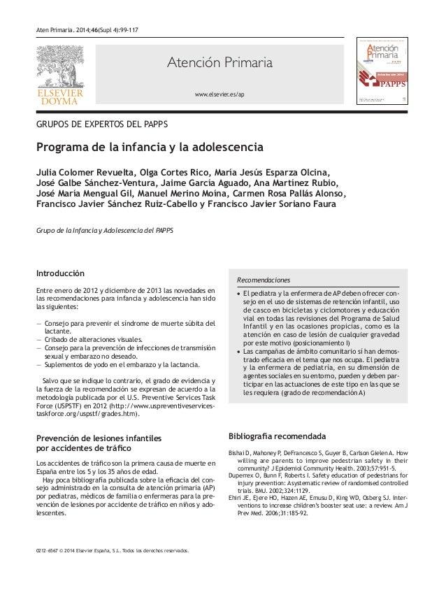 Atención Primaria www.elsevier.es/ap 0212-6567 © 2014 Elsevier España, S.L. Todos los derechos reservados. Actualización 2...