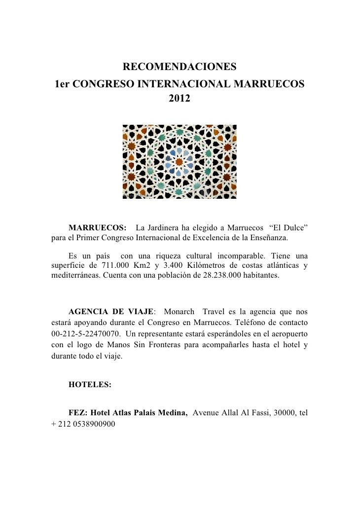 Recomendaciones viaje a marruecos