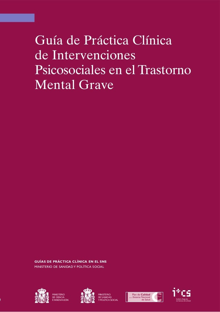 Recomendado guía práctica clínica de intervenciones psicosociales en el trastorno mental grave 168 págs. ok