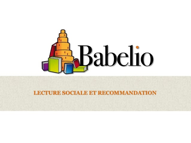 Recommandation sociale Babelio