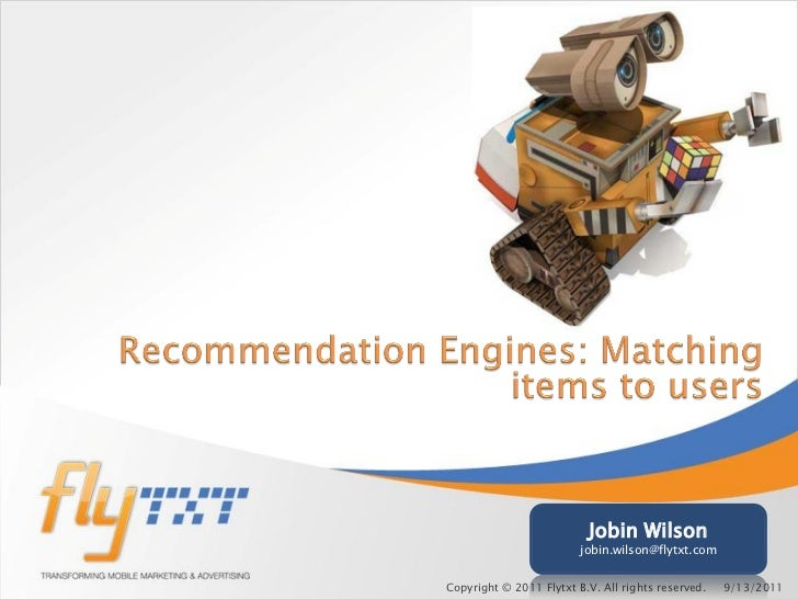 Recommendation engines matching items to users