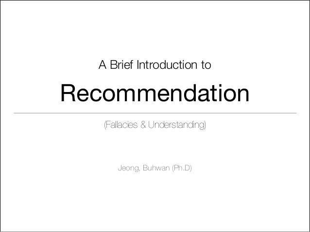 Recommendation for dummy