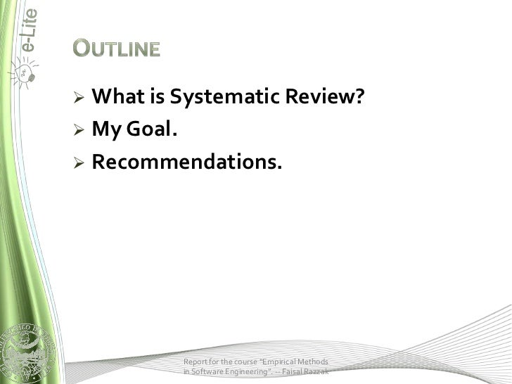 a systematic literature review of software
