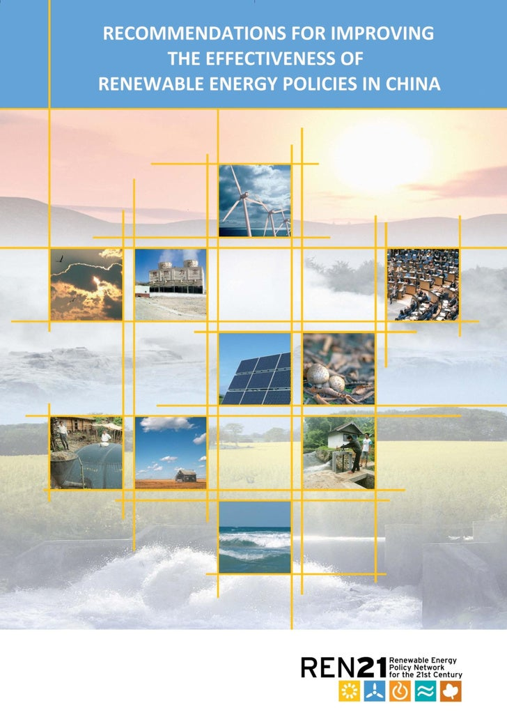 Policy Recommendations For Chinese Renewable Energy Industry
