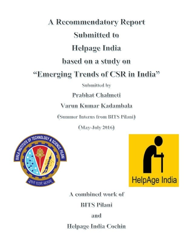 Thesis on csr in india
