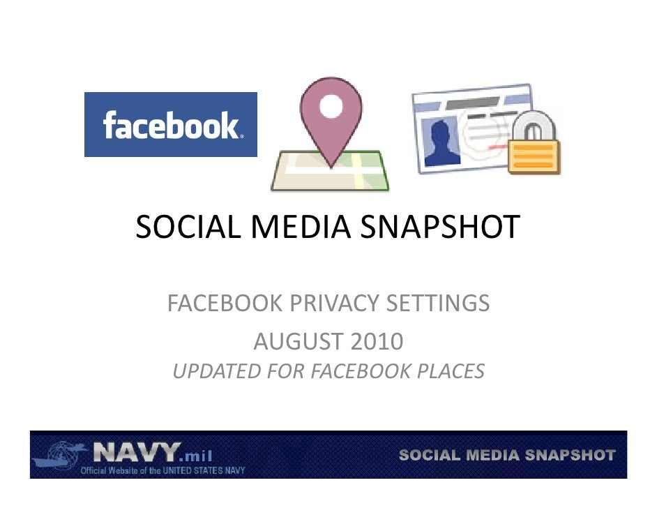 Recommended Facebook Privacy Settings August 2010 Fb Places