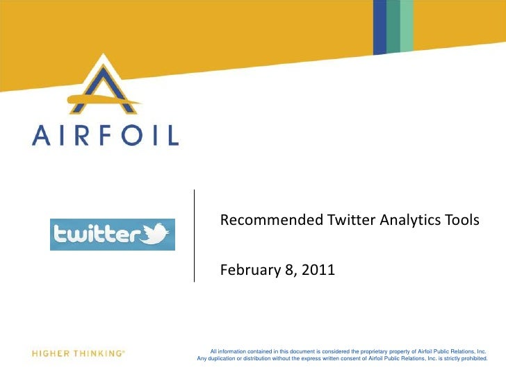 Recommended Twitter Analytics Tools<br />