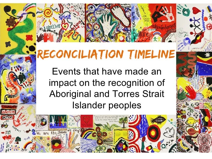 National Reconciliation Week 2012 - timeline of reconciliation events