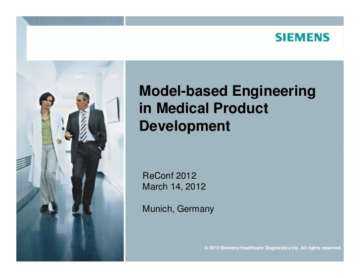 Model-based Engineering                                     in Medical Product                                     Develop...