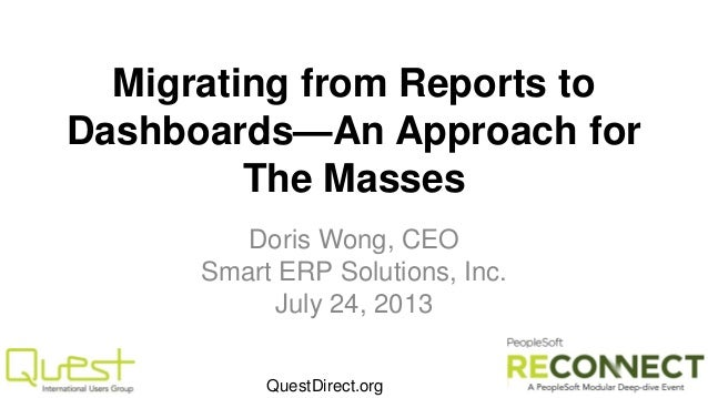Migrating from Reports to Dashboards-an approach for the masses