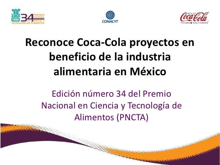Reconoce Coca-Cola proyectos en beneficio de la industria