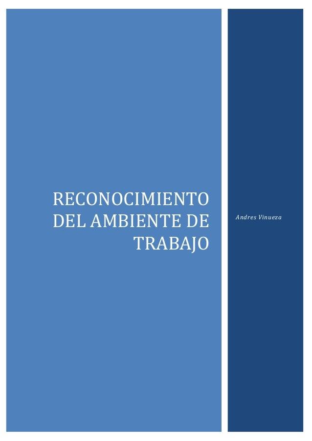 RECONOCIMIENTO DEL AMBIENTE DE TRABAJO  Andres Vinueza