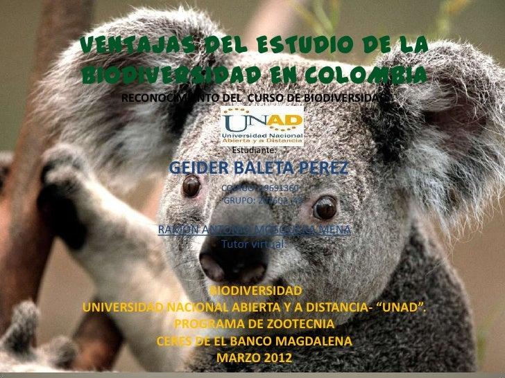 importancia de la biodiversidad en colombia