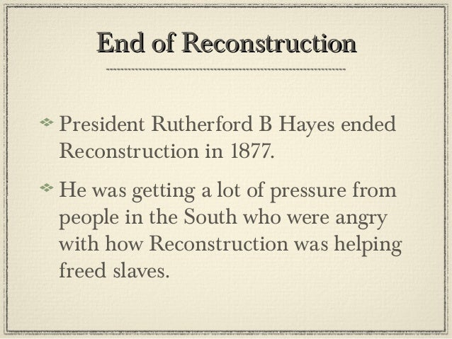 were blacks free during reconstruction Fruits of reconstruction:  this lithograph depicts not only african american leaders during reconstruction,  free blacks | abolition.