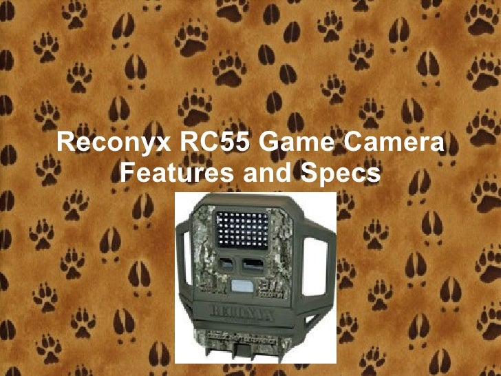 Reconyx RC55 Game Camera     Features and Specs