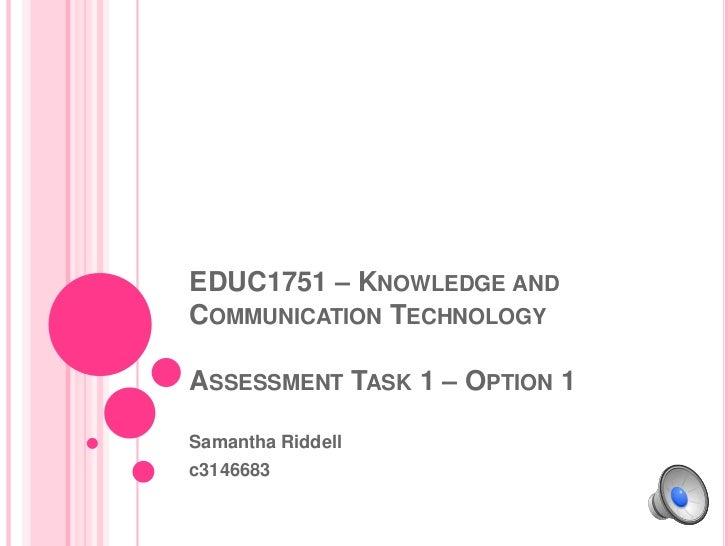 EDUC1751 – Assessment Task 1