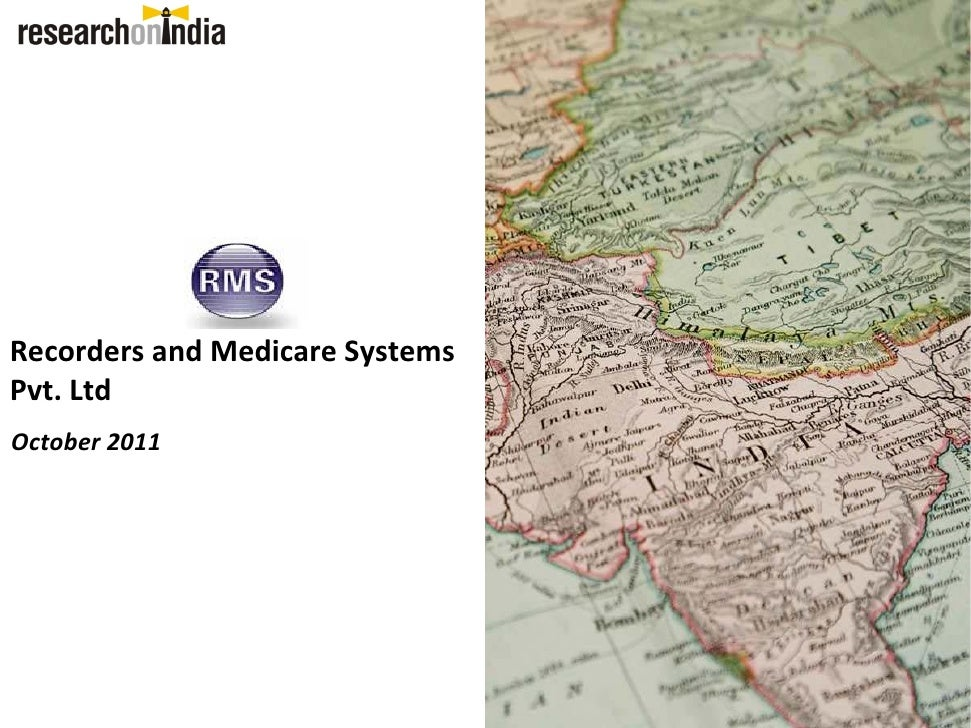 Recorders and Medicare Systems Pvt  Ltd. - Company Profile