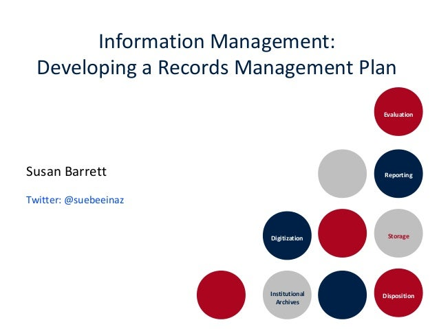 Information Management: Developing a Records Management Plan