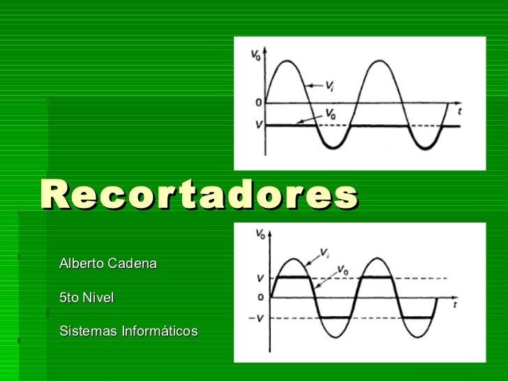 Recortadores Alberto Cadena 5to Nivel Sistemas Informáticos