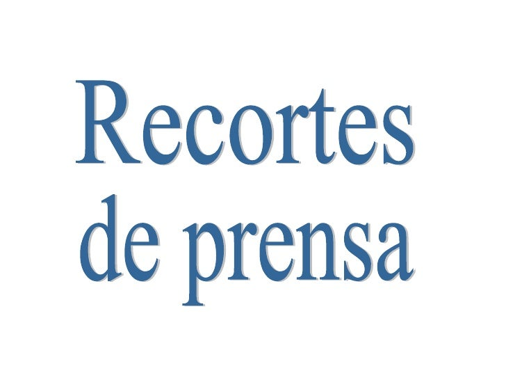 Recortes Prensa