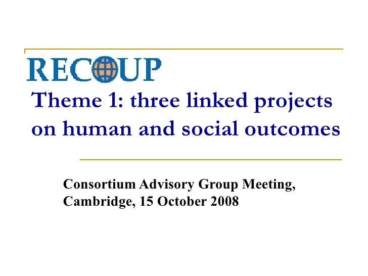 Recoup Theme 1 Presentation Oct 08